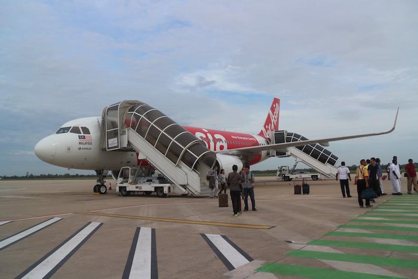[クアラルンプール→シェムリアップ] カンボジア シェムリアップ国際空港に到着