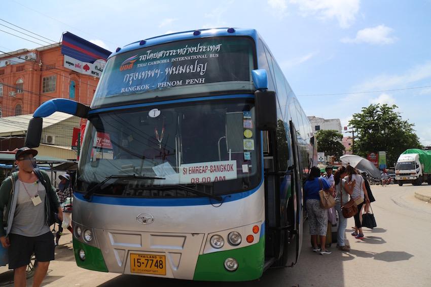 [シェムリアップ→バンコク] 直通バスで陸路移動&国境越えしてみよう!
