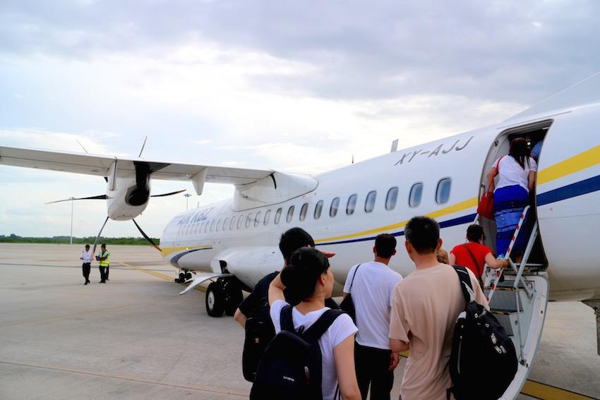 [マンダレー→バガン] ミャンマー国内線でマンダレー空港からニャウンウー空港へ