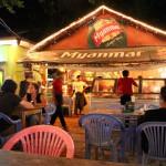 【Shwe Ya Su】地元の人も盛り上がるビアガーデンレストラン(Bagan/バガン)
