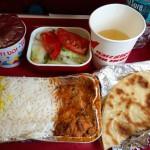 [ヤンゴン→コルカタ] エア・インディアの機内食インドカレーが絶品!