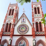 ゴシック建築様式のカトリック教会「Basilica of the Sacred Heart of Jesus」in Pondicherry