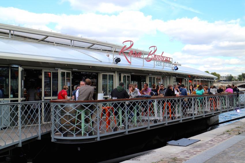 【Rosa Bonheur Sur Seine】セーヌ川を眺めながらフランスビール「Gold Triumph」をいただきました(Paris/パリ)