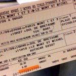 [パリ⇄モンサンミッシェル] 【個人手配での行き方】高速鉄道TGVとバスを予約して世界遺産モンサンミッシェルへ!