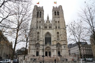 「サンミッシェル大聖堂」ブリュッセル市街中心部に聳えるゴシック様式の大聖堂
